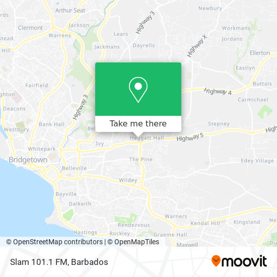 Slam 101.1 FM map