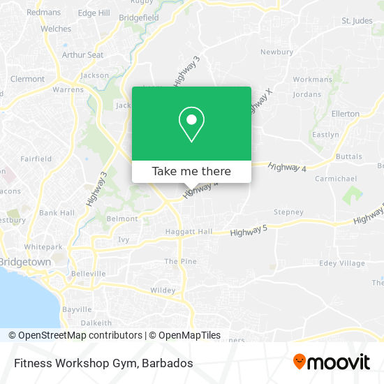 Fitness Workshop Gym map