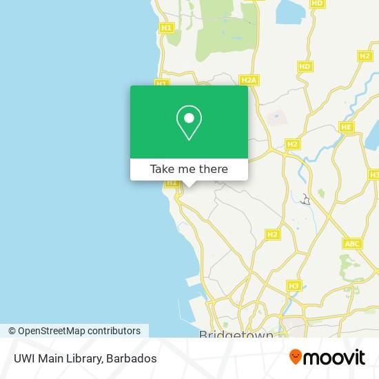 UWI Main Library map