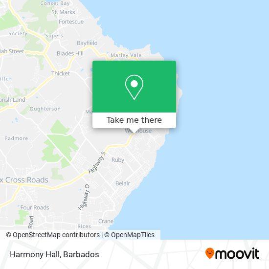 Harmony Hall map