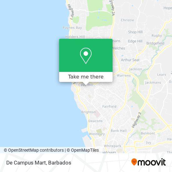 De Campus Mart map