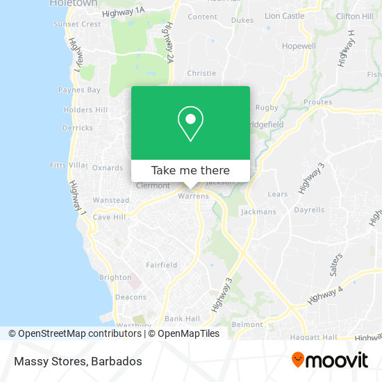 Massy Stores map