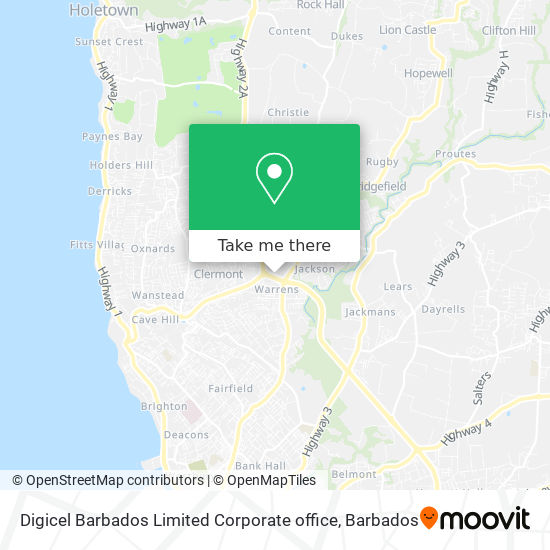 Digicel Barbados Limited Corporate office map