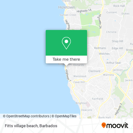 Fitts village beach map