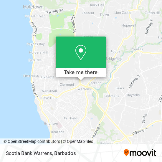 Scotia Bank Warrens map