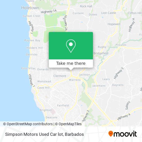 Simpson Motors Used Car lot map