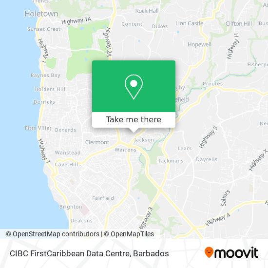 CIBC FirstCaribbean Data Centre map