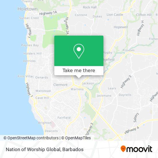 Nation of Worship Global map