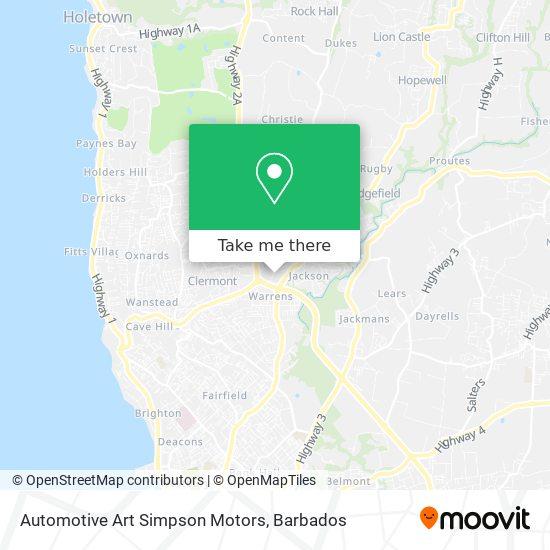 Automotive Art Simpson Motors map