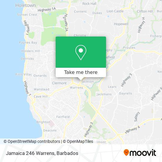 Jamaica 246 Warrens map