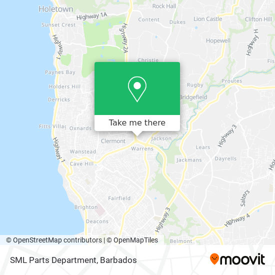 SML Parts Department map