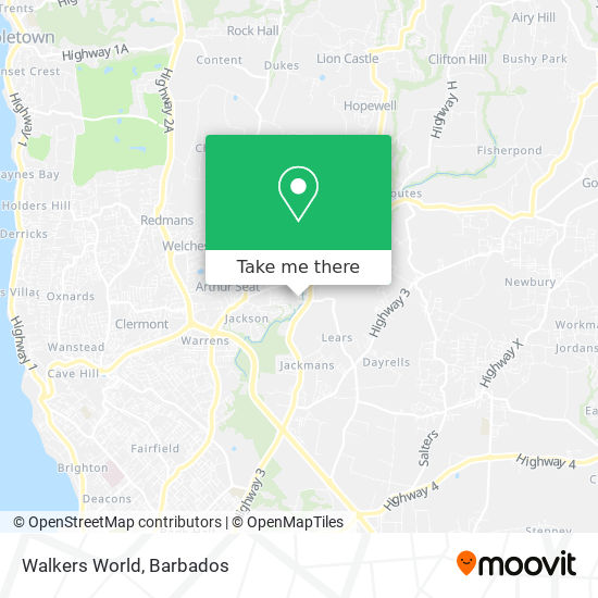Walkers World map