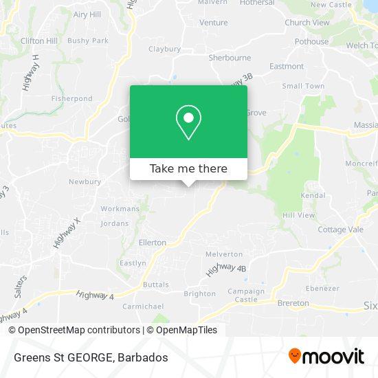 Greens  St GEORGE map