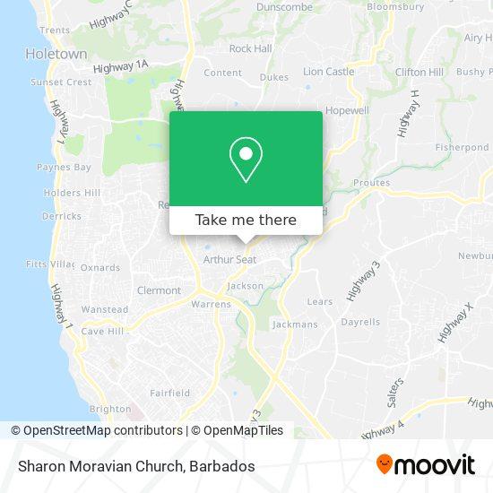 Sharon Moravian Church map