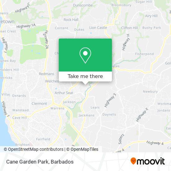 Cane Garden Park map