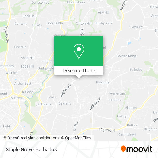 Staple Grove map