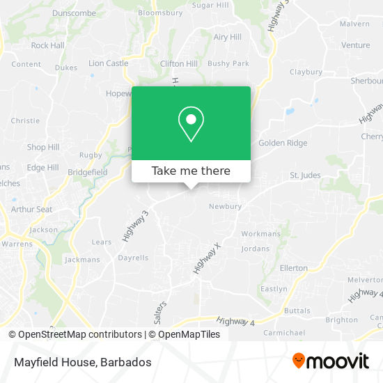 Mayfield House map