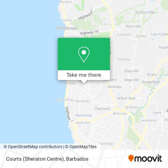 Courts (Sheraton Centre) map