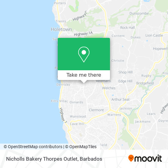 Nicholls Bakery Thorpes Outlet map