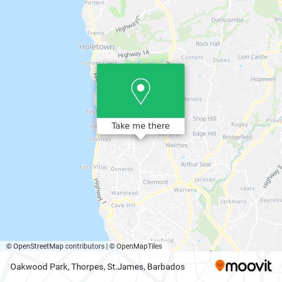 Oakwood Park, Thorpes, St.James map