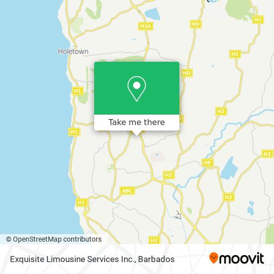 Exquisite Limousine Services Inc. map