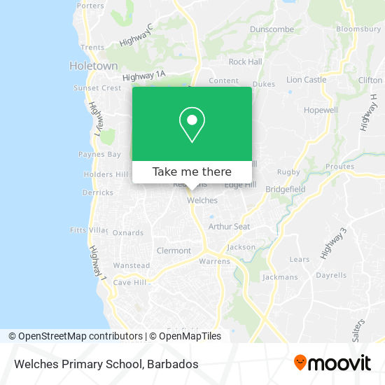 Welches Primary School map