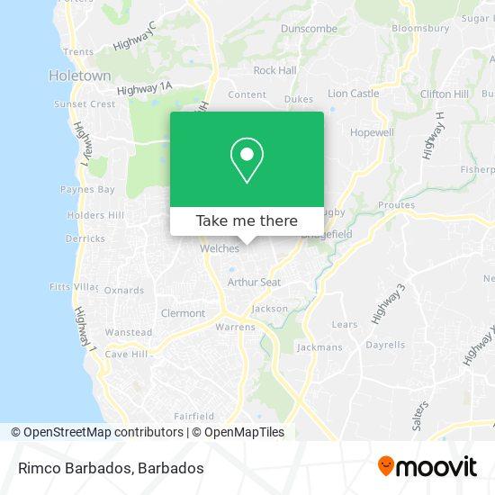 Rimco Barbados map