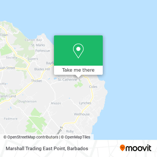Marshall Trading East Point map