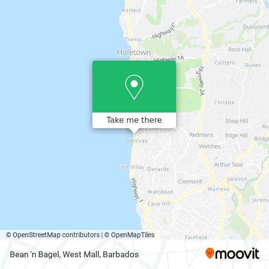 Bean 'n Bagel, West Mall map