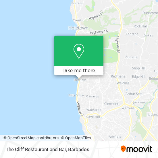 The Cliff Restaurant and Bar map