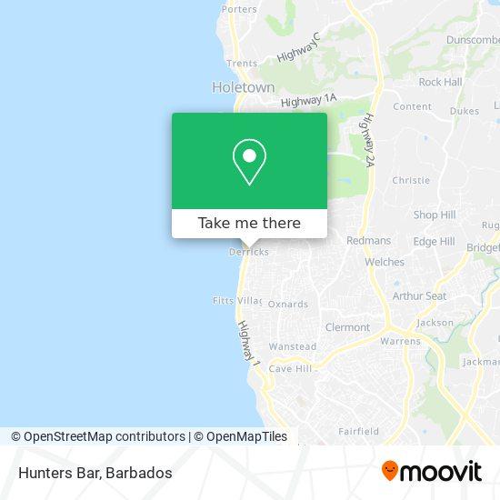 Hunters Bar map