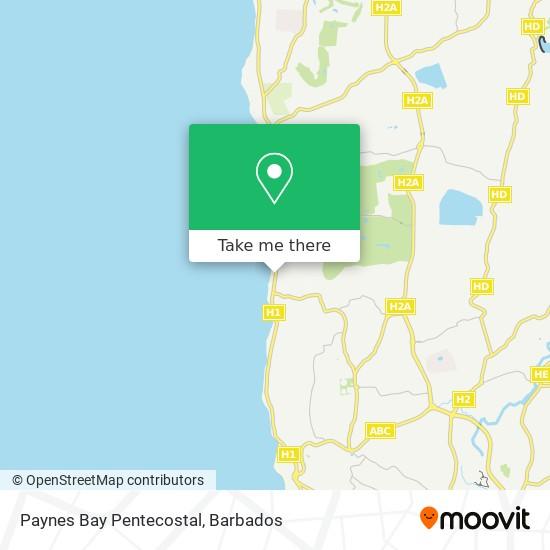 Paynes Bay Pentecostal map