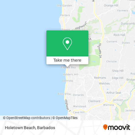Holetown Beach map