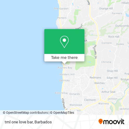 tml one love bar map