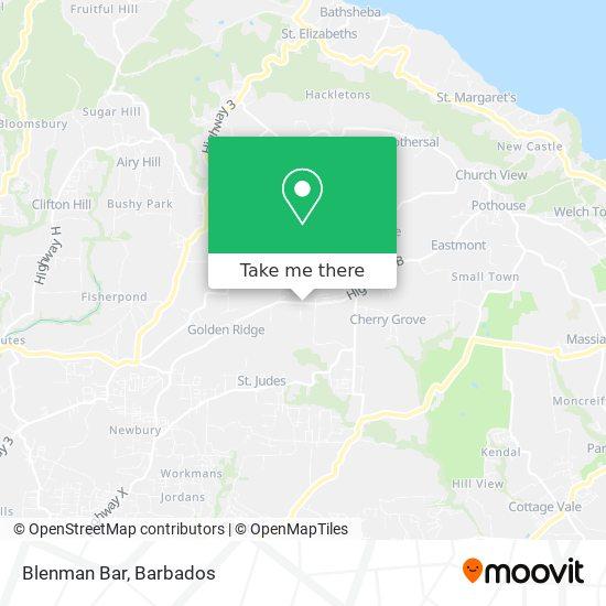 Blenman Bar map
