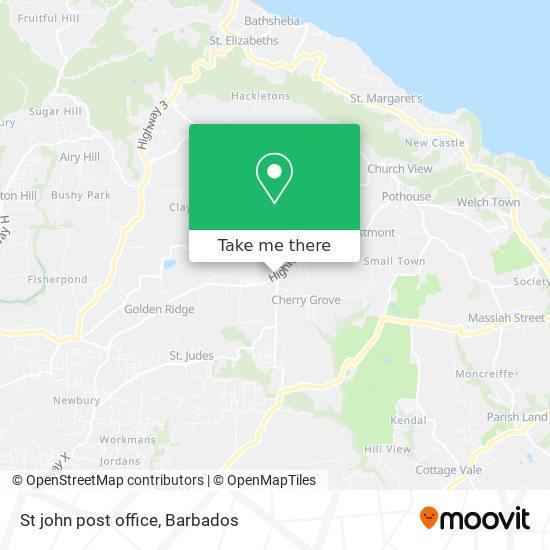 St john post office map
