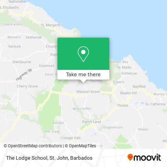 The Lodge School, St. John map