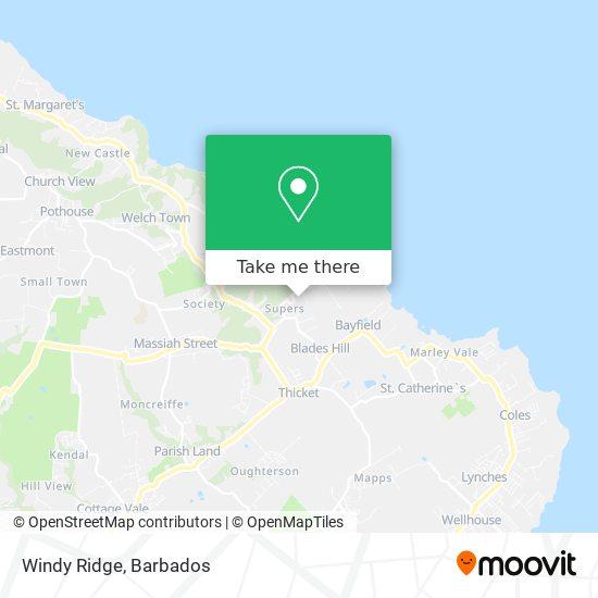 Windy Ridge map