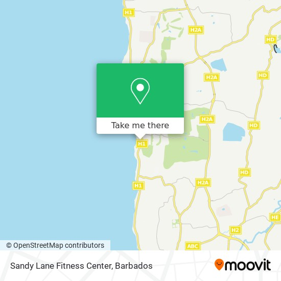 Sandy Lane Fitness Center map