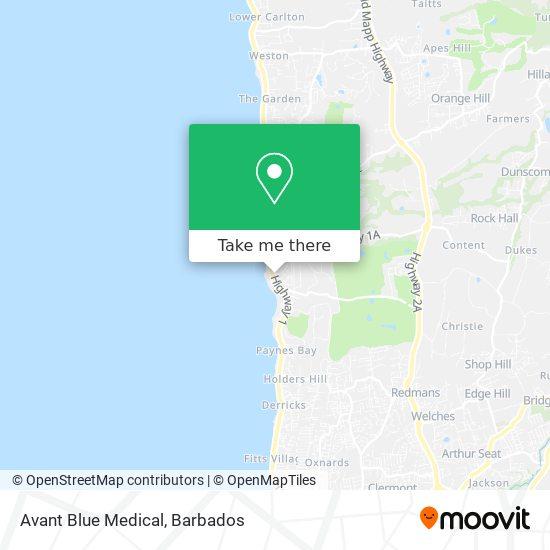 Avant Blue Medical map