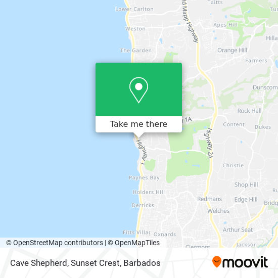 Cave Shepherd, Sunset Crest map