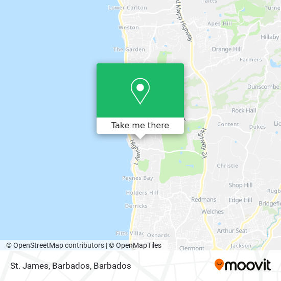St. James, Barbados map