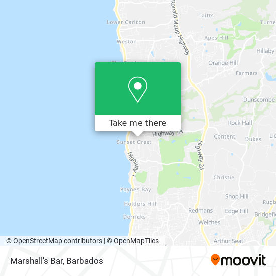 Marshall's Bar map