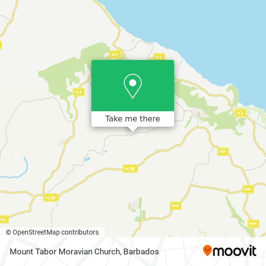 Mount Tabor Moravian Church map