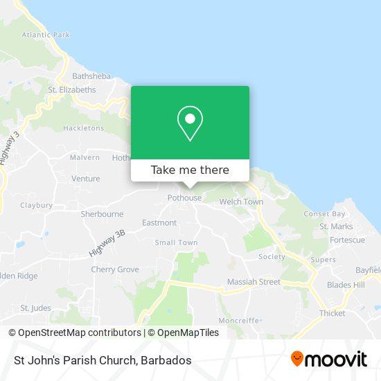 St John's Parish Church map