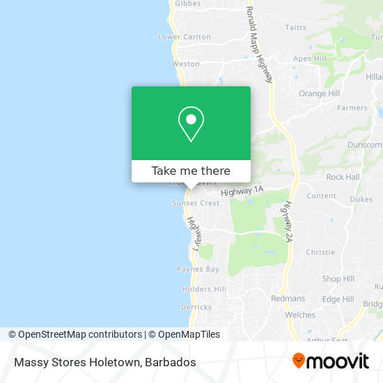 Massy Stores Holetown map