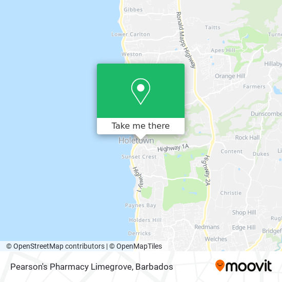Pearson's Pharmacy Limegrove map
