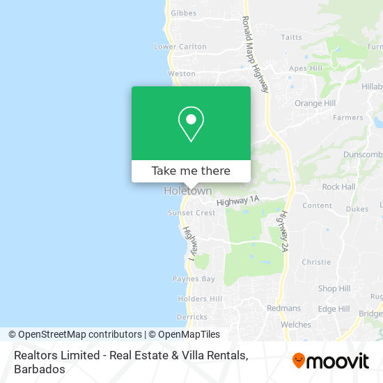 Realtors Limited - Real Estate & Villa Rentals map