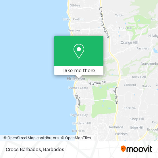 Crocs Barbados map