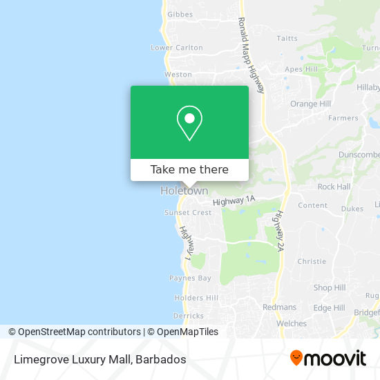 Limegrove Luxury Mall map